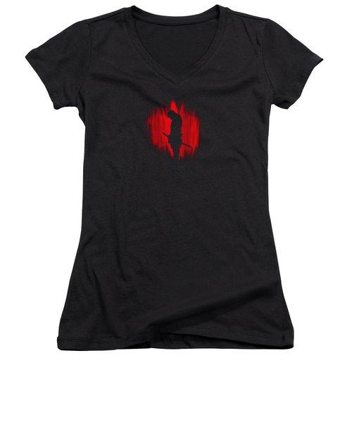 The Way Of The Samurai Warrior Women's V-Neck T-Shirt