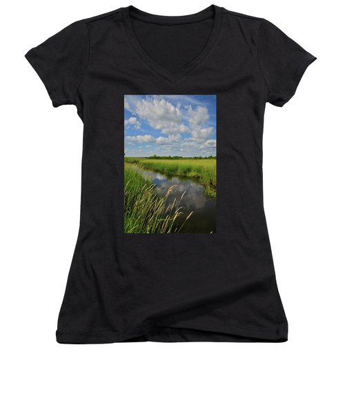 The Wetlands Of Hackmatack National Wildlife Refuge Women's V-Neck