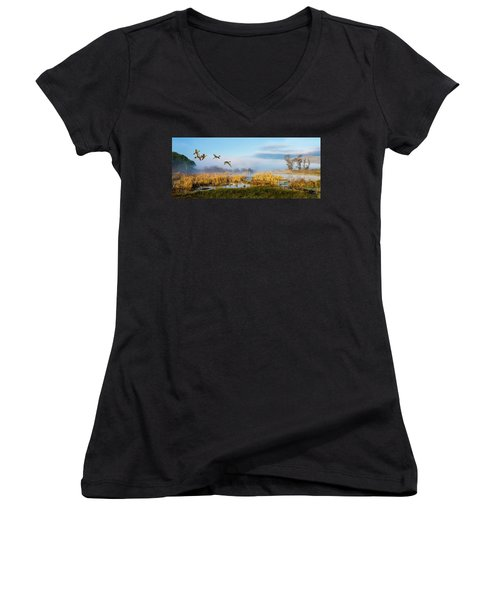 The Wetlands Women's V-Neck (Athletic Fit)