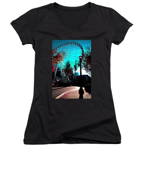 The Wheel Blue Women's V-Neck
