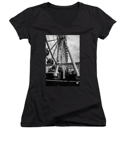The Wheel Seattle  Women's V-Neck (Athletic Fit)