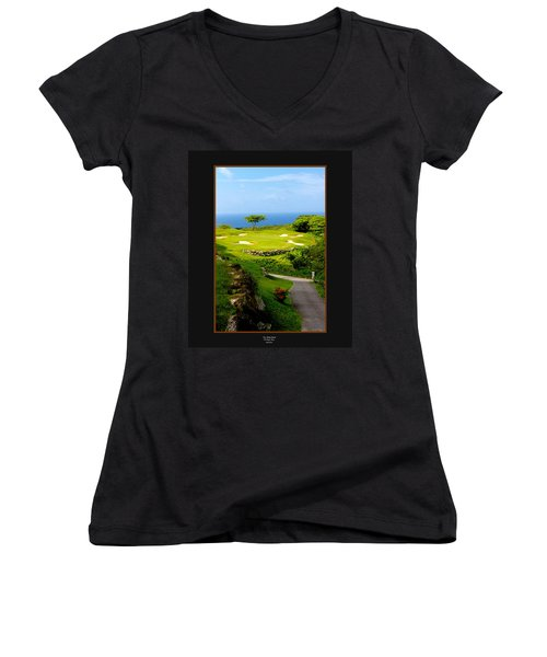 The White Witch Jamaica Women's V-Neck (Athletic Fit)