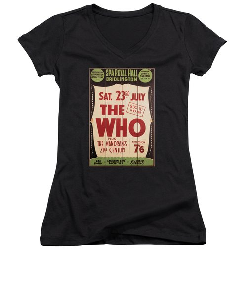 The Who 1966 Tour Poster Women's V-Neck (Athletic Fit)