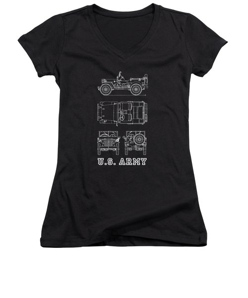 The Willys Jeep Women's V-Neck T-Shirt