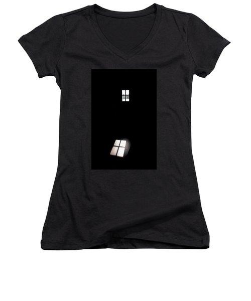 The Window Women's V-Neck T-Shirt (Junior Cut) by Jouko Lehto