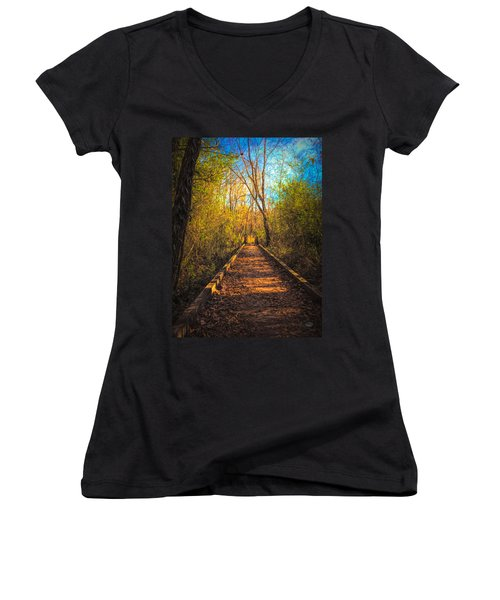 The Wooden Trail Women's V-Neck (Athletic Fit)