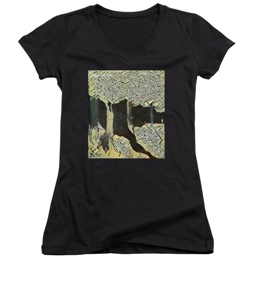 The Woods Are Lovely Women's V-Neck (Athletic Fit)