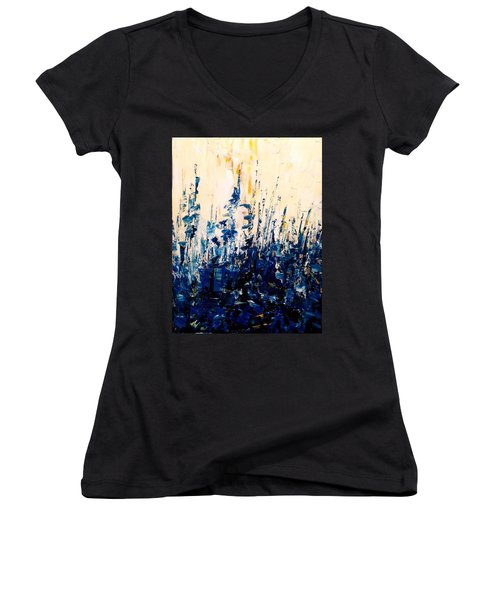 The Woods - Blue No.1 Women's V-Neck T-Shirt