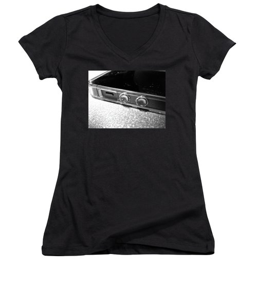 Women's V-Neck featuring the photograph The Work Phone by Robert Knight