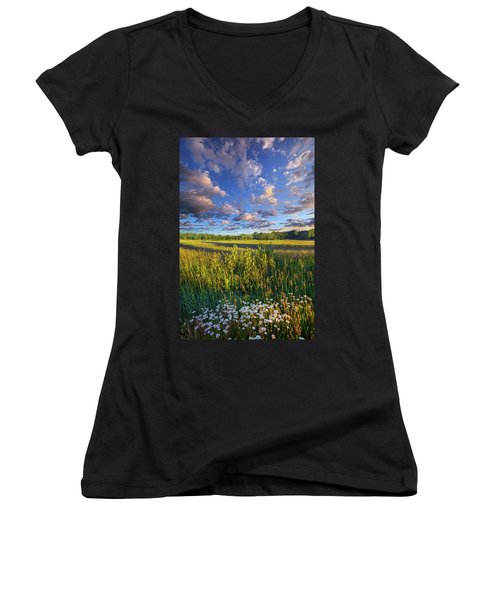 The World Is Quiet Here Women's V-Neck