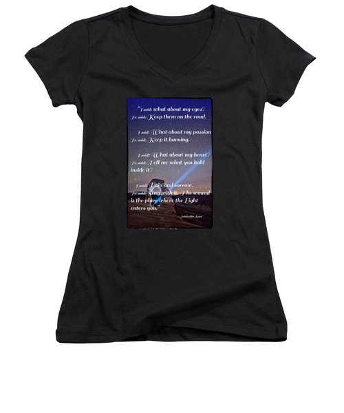 The Wound Is The Place Where The Light Enters You - Rumi  Women's V-Neck T-Shirt