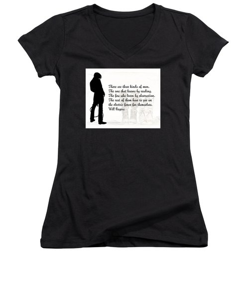There Are Three Kinds Of Men Women's V-Neck (Athletic Fit)