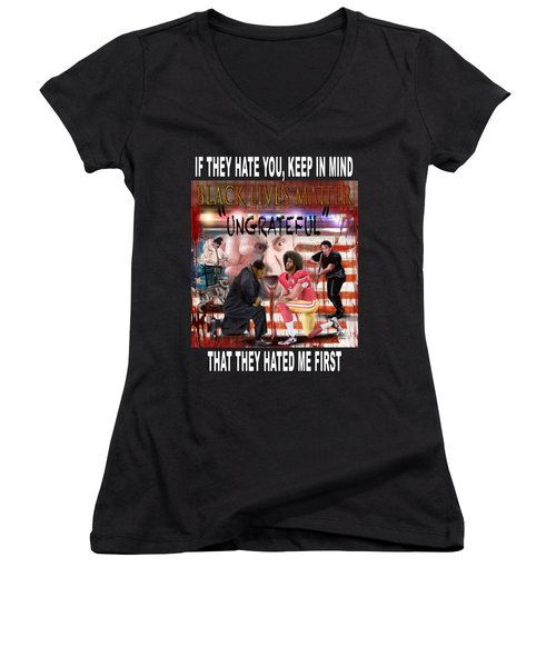 They Hated Me First Women's V-Neck