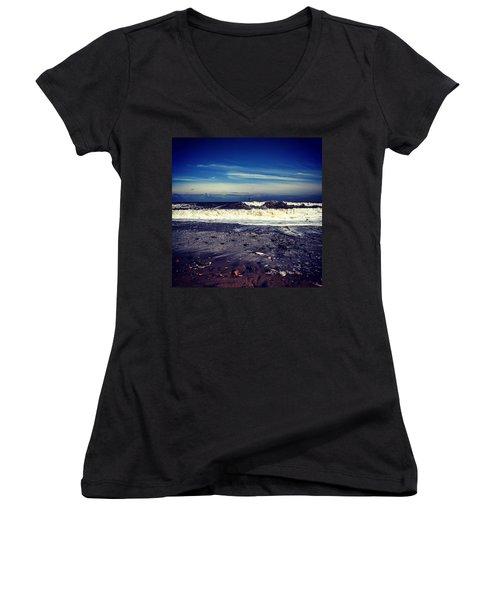 Think Ill Skip The Beach 😕 Women's V-Neck