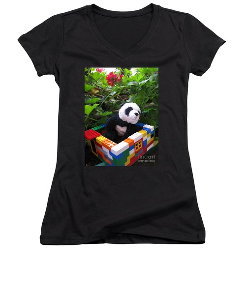 Women's V-Neck T-Shirt (Junior Cut) featuring the photograph This House Is Too Small For Me by Ausra Huntington nee Paulauskaite