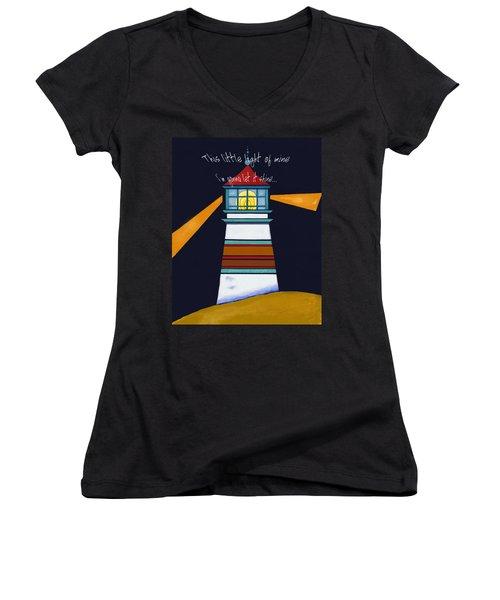This Little Light Of Mine Women's V-Neck T-Shirt (Junior Cut) by Glenna McRae
