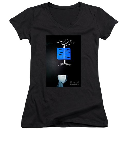 Thought Block Women's V-Neck T-Shirt