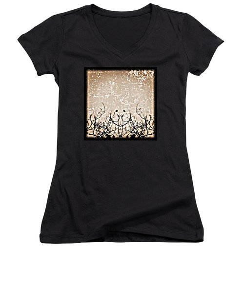 Thoughts Women's V-Neck (Athletic Fit)