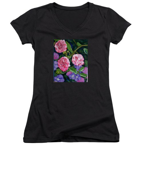 Three For The Show Women's V-Neck