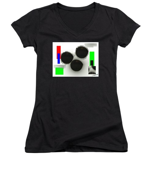 Three Is A Crowd Women's V-Neck T-Shirt