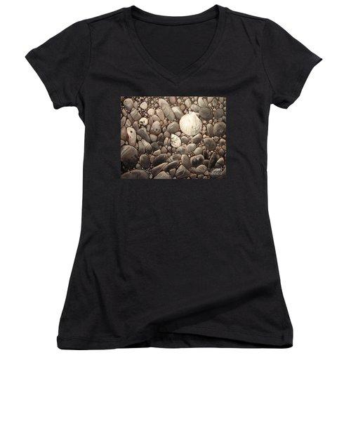 Three Shells Women's V-Neck T-Shirt (Junior Cut) by Mary Hubley