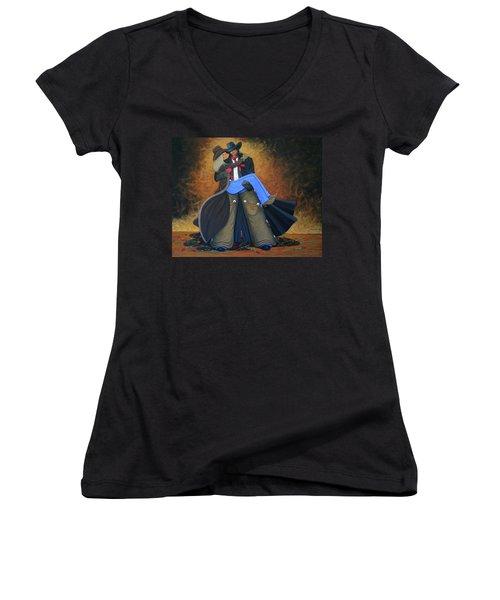 Threshold Women's V-Neck T-Shirt (Junior Cut) by Lance Headlee