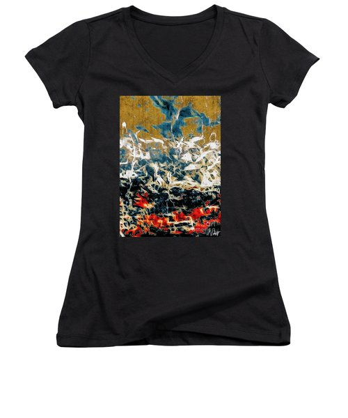 Through The Cracks Women's V-Neck T-Shirt (Junior Cut) by William Wyckoff