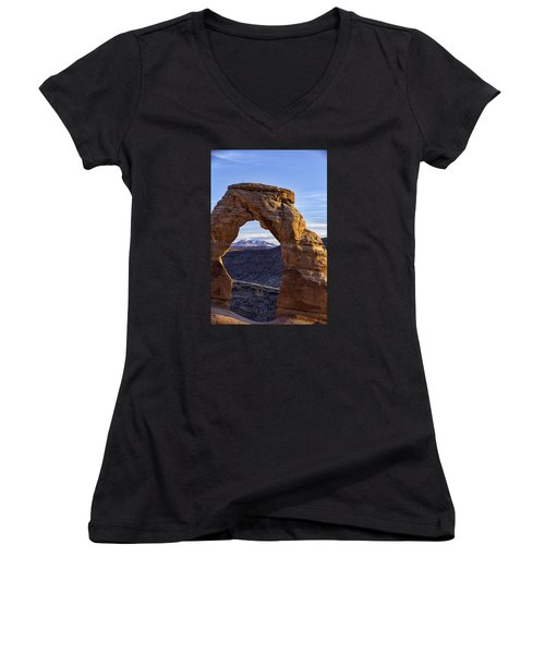 Through The Delicate Arch Women's V-Neck (Athletic Fit)
