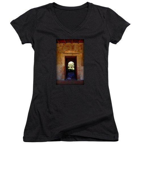Through The Doorway Women's V-Neck T-Shirt