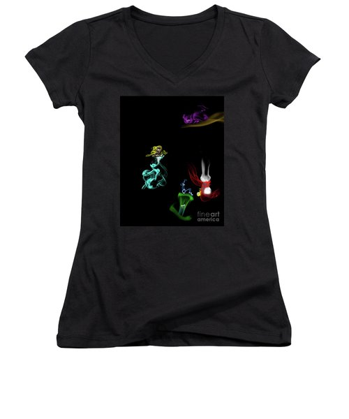 Through The Looking Glass Women's V-Neck T-Shirt