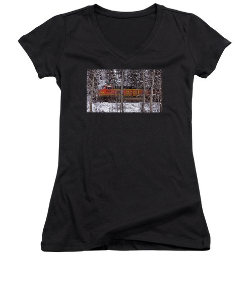 Through The Woods Women's V-Neck T-Shirt