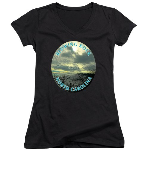 Thunder Mountain Overlook T-shirt Women's V-Neck T-Shirt