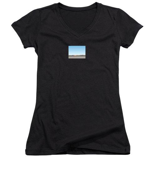 Thw Little San Bernardino Mountains Women's V-Neck T-Shirt (Junior Cut) by Stan  Magnan