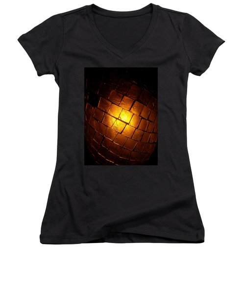 Women's V-Neck featuring the photograph Tiffany Lamp by Robert Knight