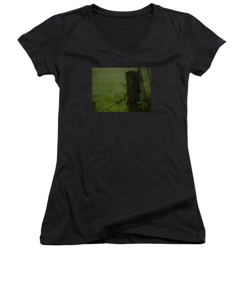 Time Tested Women's V-Neck T-Shirt (Junior Cut) by Laura Ragland