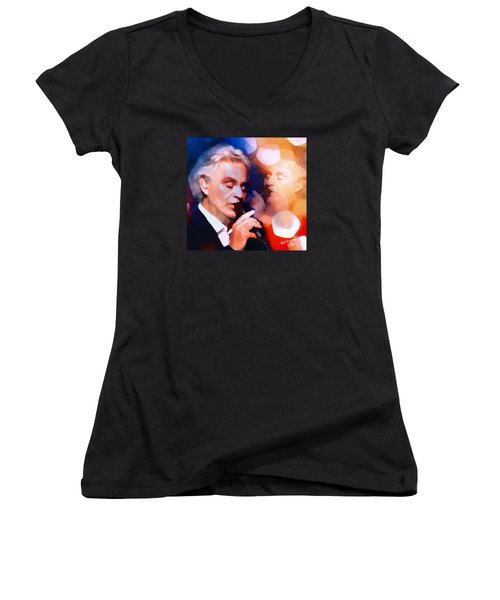 Time To Say Good Bye Women's V-Neck T-Shirt (Junior Cut) by Ted Azriel