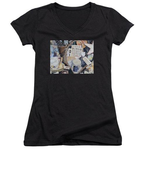 Time Travel   Original Women's V-Neck T-Shirt