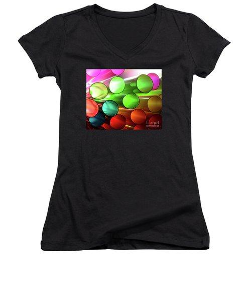 Time Tubes Women's V-Neck T-Shirt