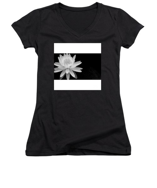 Black And White -timeless Lily Women's V-Neck (Athletic Fit)