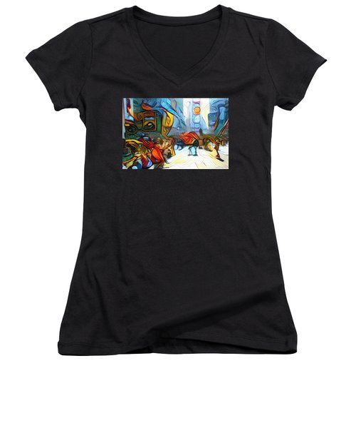 Times Square Women's V-Neck (Athletic Fit)