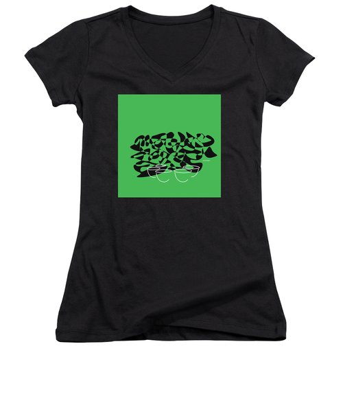 Timpani In Green Women's V-Neck (Athletic Fit)