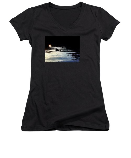 To The Light Women's V-Neck (Athletic Fit)