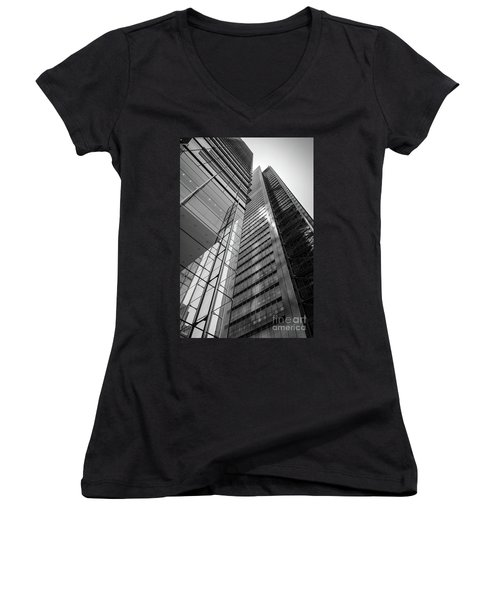To The Top   -27870-bw Women's V-Neck T-Shirt (Junior Cut) by John Bald