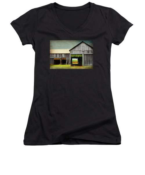 Tobacco Drying Women's V-Neck (Athletic Fit)