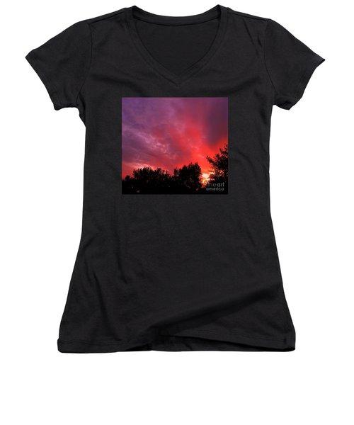 Tonight Women's V-Neck T-Shirt (Junior Cut)