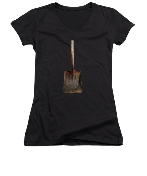 Tools On Wood 4 On Bw Women's V-Neck T-Shirt (Junior Cut) by YoPedro