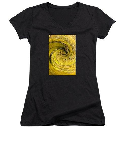 Tornado Women's V-Neck T-Shirt (Junior Cut) by Marilyn Carlyle Greiner