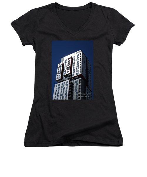 Toronto Skyscrapers 6 Women's V-Neck T-Shirt (Junior Cut) by Randall Weidner