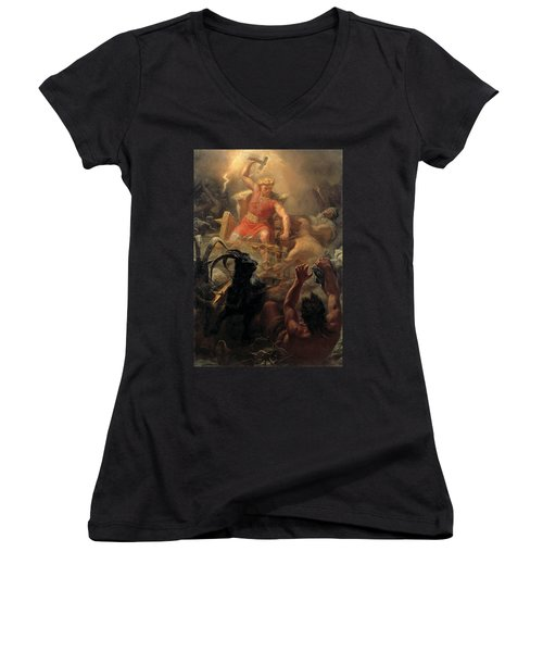 Tor's Fight With The Giants Women's V-Neck