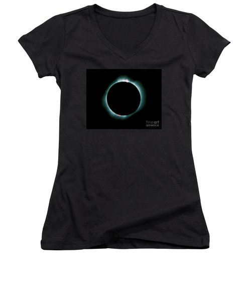 Total Solar Eclipse Women's V-Neck